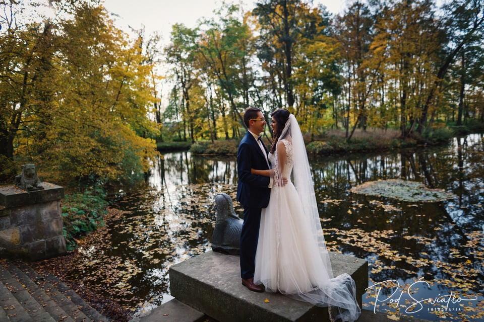 Jesienny Plener Ślubny Arkadia w Nieborowie